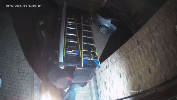 CCTV Shows £5000 worth of equipment stolen from Electrician's Van parked in driveway